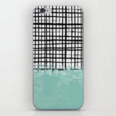 Mila - Grid and mint -  paint, art, artist cell phone case, grid phone case iPhone & iPod Skin