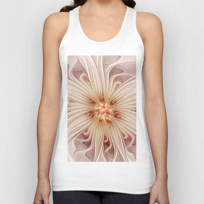 A floral Beauty, abstract Fractal Art Unisex Tank Top