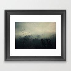 moody fog Framed Art Print