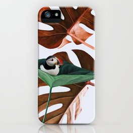 Penguin likes nature iPhone Case