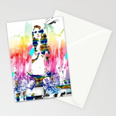 Colorful girl Stationery Cards