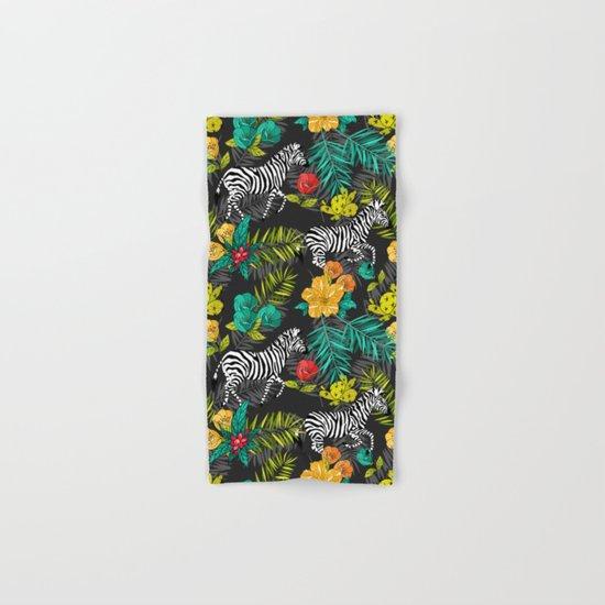 Tropical pattern with zebra Hand & Bath Towel