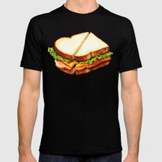 Ham Sandwich Pattern 2X-LARGE Black Mens Fitted Tee