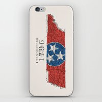 tennessee iPhone & iPod Skins featuring Tennessee: 1796 by Chad Madden