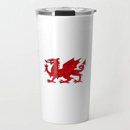 Welsh Dragon With a Bevel Effect Travel Mug