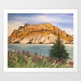 Crowfoot Mountain Art Print