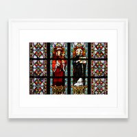 stained glass Framed Art Prints featuring Stained glass by Marieken