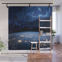 Earth and Galaxy Wall Mural