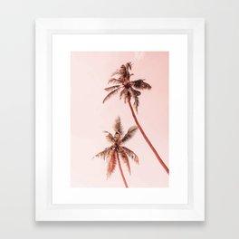 Sunset palms Framed Art Print