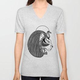 Tefnut Egyptian Goddess Unisex V-Neck