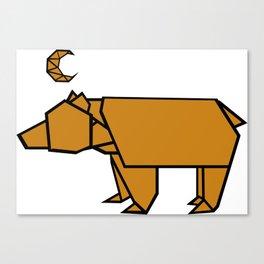 Bear Moon Canvas Print