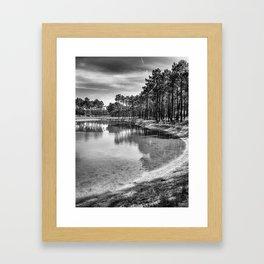Pure Waters - Black & White Framed Art Print