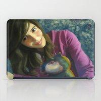 ale giorgini iPad Cases featuring Ale+bichin by CataBeja Umaña Azul