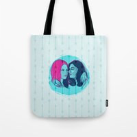 allison argent Tote Bags featuring TW - Allison and Lydia by days & hours