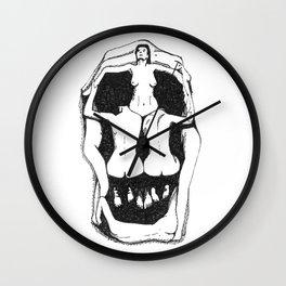Skull by Salvador Dali Wall Clock