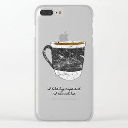 I Like Big Cups Clear iPhone Case