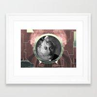 einstein Framed Art Prints featuring Einstein  by Whorechata