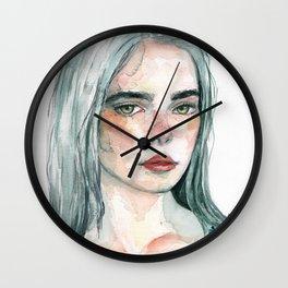 watercolor portrait Wall Clock