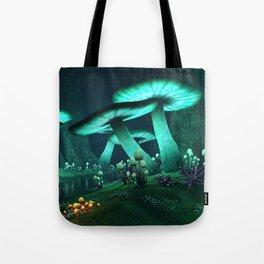 Luminous Mushrooms Tote Bag
