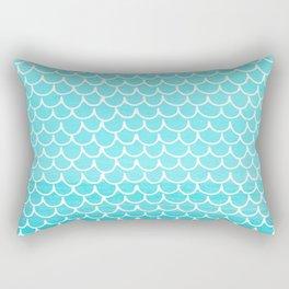 Let´s be mermaids- Aqua Mermaidscales - into the Sea Rectangular Pillow
