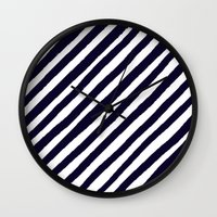 uncharted Wall Clocks featuring Uncharted Lines by Social Proper