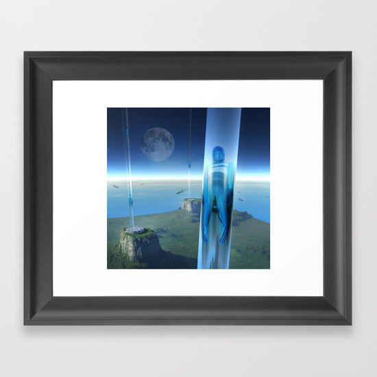 space elevator - babylon transfer station 02 Framed Art Print