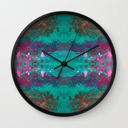 Fragmented 45 Wall Clock