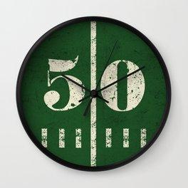 50 yard Football Wall Clock