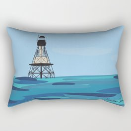 Fowey Rocks Lighthouse Rectangular Pillow