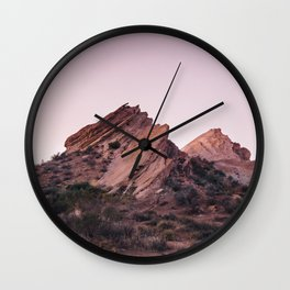 Desert Landscape at Magic Hour Wall Clock