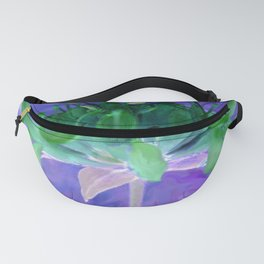 Field flower-blue and violet background Fanny Pack