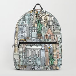 New York watercolor Backpack