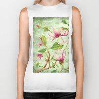 magnolia Biker Tanks featuring Magnolia by CatDesignz