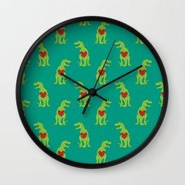 T-rex Love Wall Clock