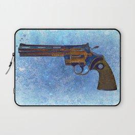 Colt Python 357 Magnum on Blue Back Ground Laptop Sleeve