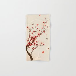 Oriental plum blossom in spring 005 Hand & Bath Towel