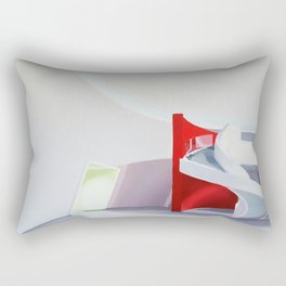 spiral on red Rectangular Pillow