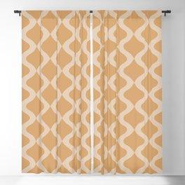 Alva Pattern - Honey Blackout Curtain