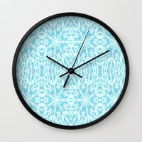 aqua Wall Clocks featuring Aqua by 2sweet4words Designs