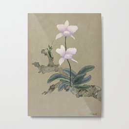 Orchid and Mantis Metal Print