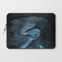 Blue Viper Snake Digital Art Laptop Sleeve