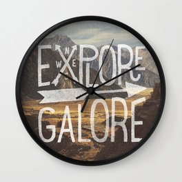 EXPLORE GALORE Wall Clock