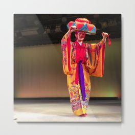 Okinawa Traditional Dancer Metal Print