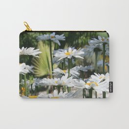 A Garden of White Daisy Flowers Carry-All Pouch