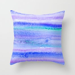 Abstract Blue Landscape Throw Pillow