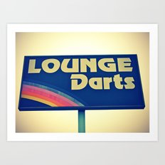 Lounge Darts sign Art Print