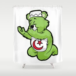MUSLIM PRAYING TEDDY Islam Prayer Allah Quran gift Shower Curtain