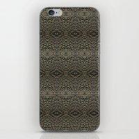 metallic iPhone & iPod Skins featuring Metallic by Sarah McMahon