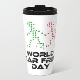 World Car Free Day Metal Travel Mug