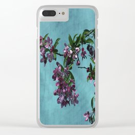 Pink Over Turquoise by CheyAnne Sexton Clear iPhone Case
